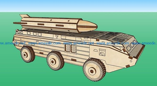 rocket car file cdr and dxf free vector download for Laser cut