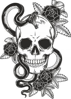 ros skull vector file cdr and dxf free vector download for print or laser engraving machines