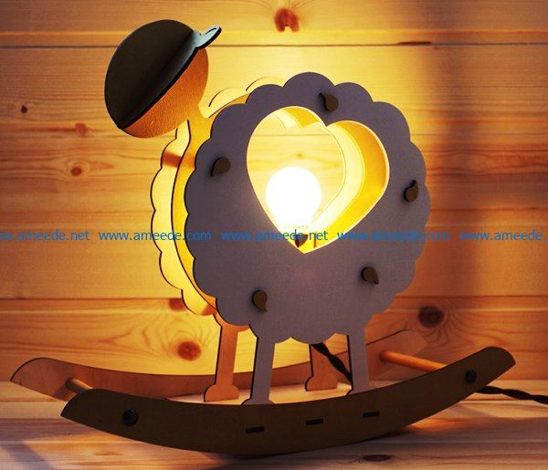 seesaw sheep lamp file cdr and dxf free vector download for Laser cut CNC