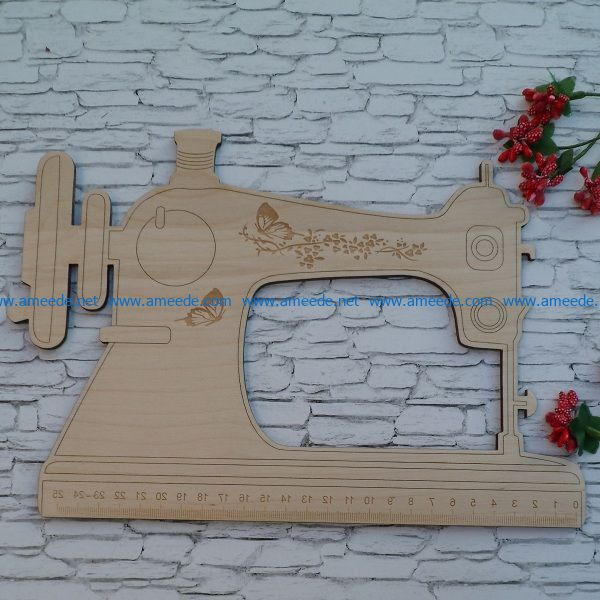 sewing machine file cdr and dxf free vector download for Laser cut