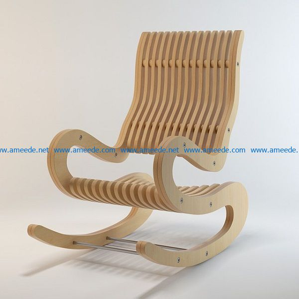 shaking chair file cdr and dxf free vector download for Laser cut