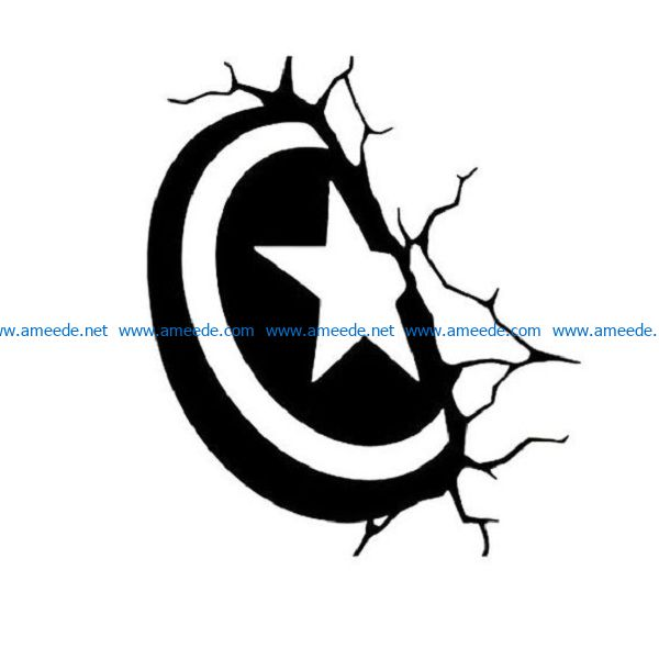shield file cdr and dxf free vector download for print or laser engraving machines