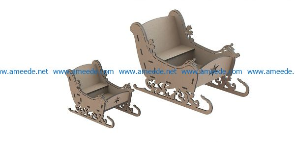 sleigh file cdr and dxf free vector download for Laser cut