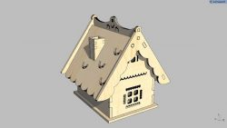 small house file cdr and dxf free vector download for Laser cut