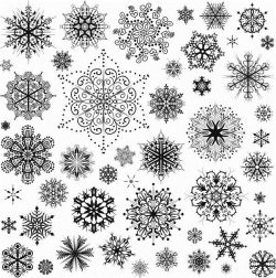 snowflake set file cdr and dxf free vector download for print or laser engraving machines
