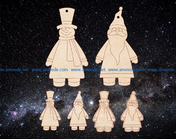 snowman file cdr and dxf free vector download for print or laser engraving machines