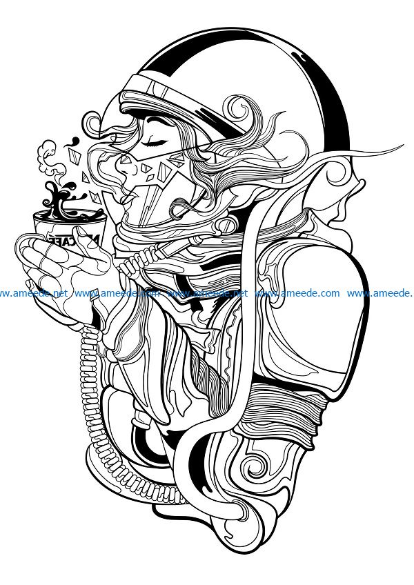 space cafe file cdr and dxf free vector download for print or laser engraving machines