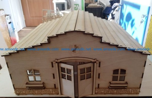 stables file cdr and dxf free vector download for Laser cut