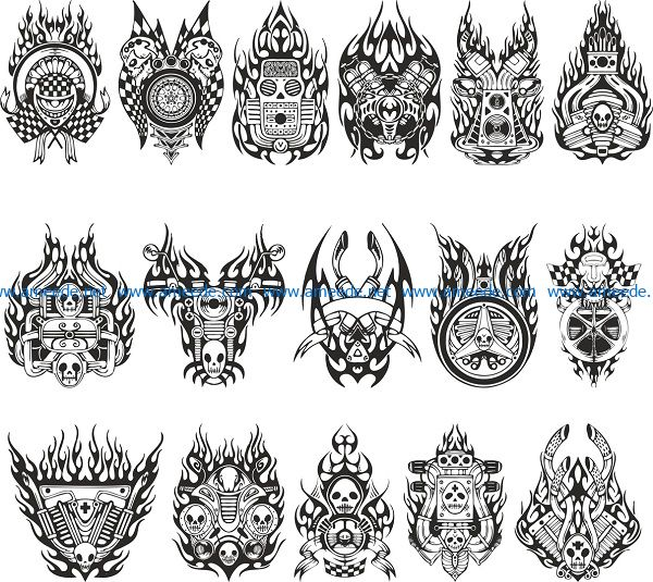sticker for moto file cdr and dxf free vector download for print or laser engraving machines