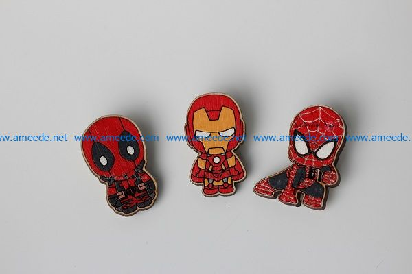 sticker spiderman and iron man file cdr and dxf free vector download for Laser cut