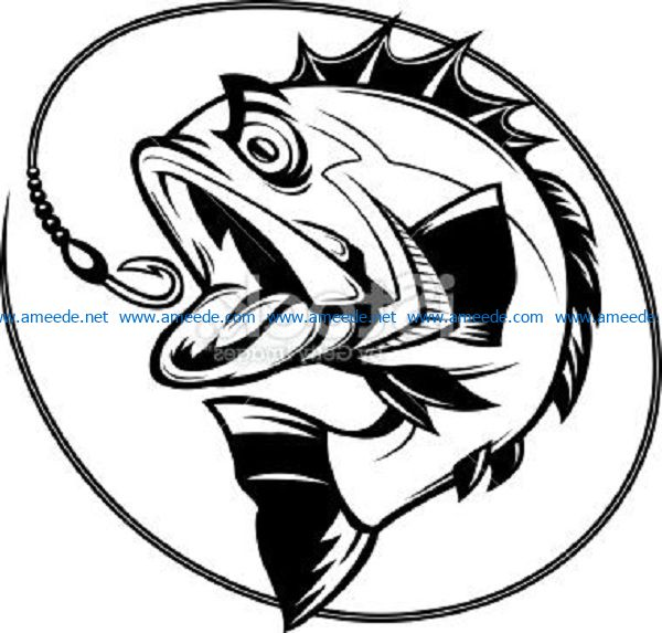 sticky fish bait file cdr and dxf free vector download for print or laser engraving machines