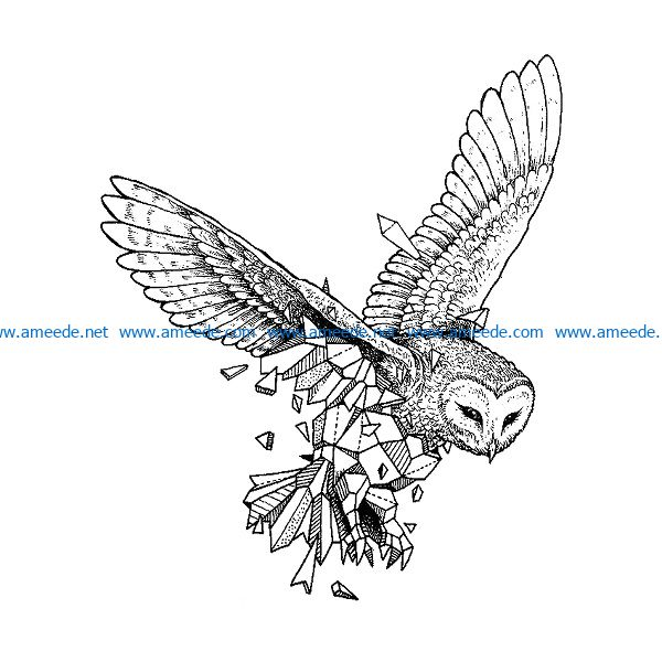 stone owl owl file cdr and dxf free vector download for print or laser engraving machines