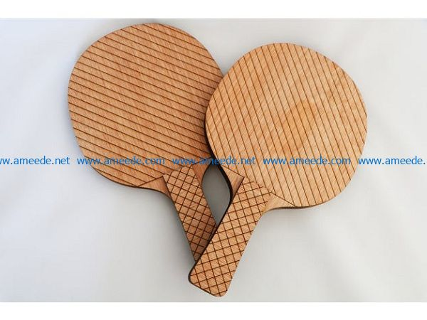table tennis bats file cdr and dxf free vector download for Laser cut