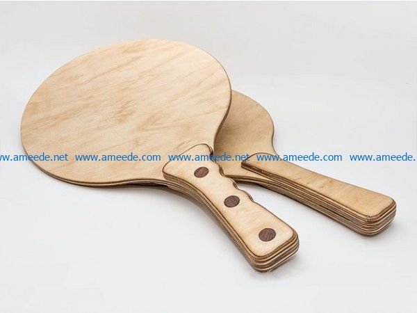 table tennis sticks file cdr and dxf free vector download for Laser cut