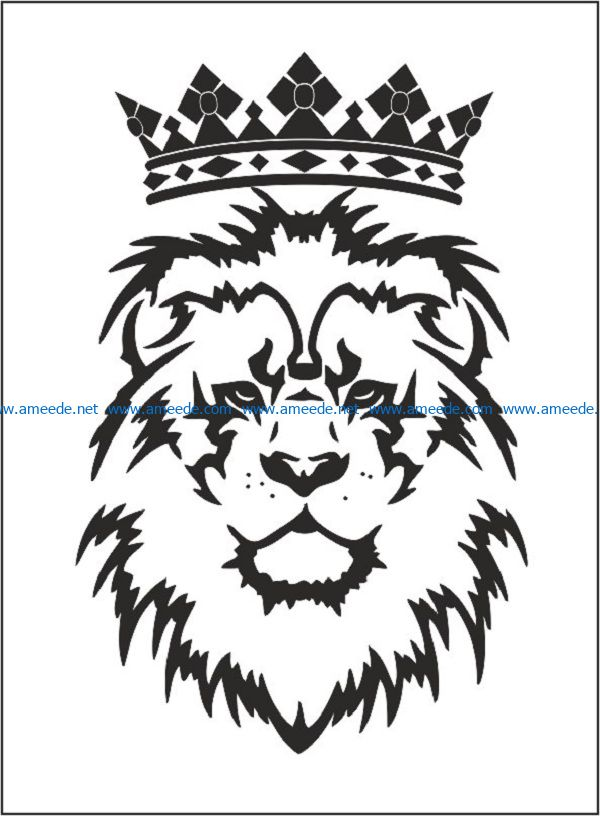 the crown and the lion file cdr and dxf free vector download for print or laser engraving machines