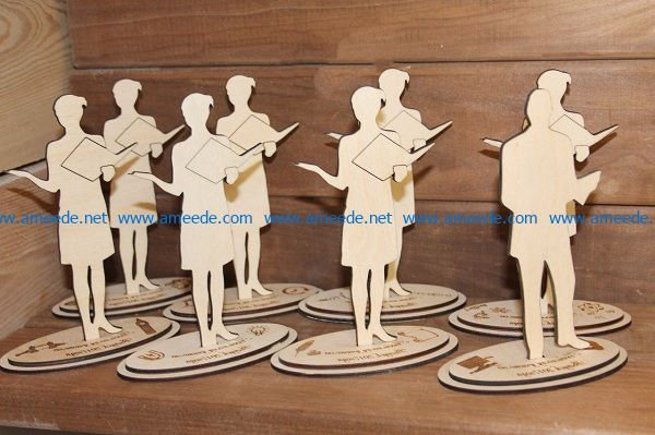 the person who holds the book file cdr and dxf free vector download for Laser cut