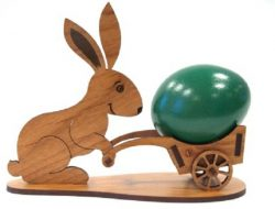 the rabbit pushes the cart file cdr and dxf free vector download for Laser cut