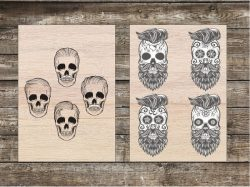 the skull  file cdr and dxf free vector download for Laser cut