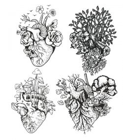 tree heart file cdr and dxf free vector download for print or laser engraving machines