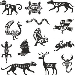 tribal animals design file cdr and dxf free vector download for print or laser engraving machines