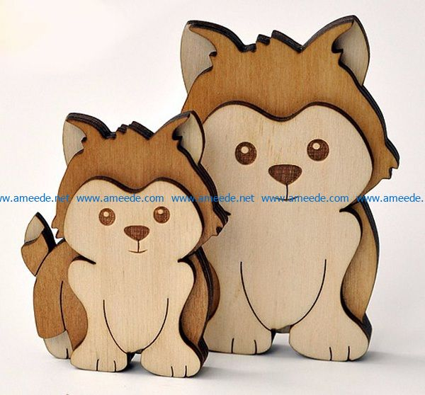 two puppies file cdr and dxf free vector download for Laser cut