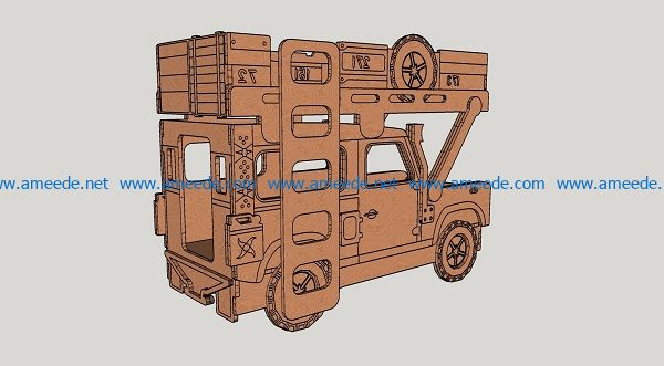 two-storey cars file cdr and dxf free vector download for Laser cut