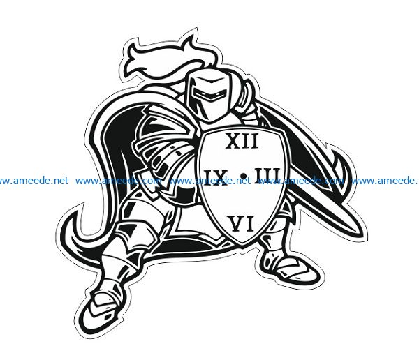 watch warrior file cdr and dxf free vector download for print or laser engraving machines