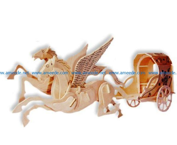 winged horse file cdr and dxf free vector download for Laser cut