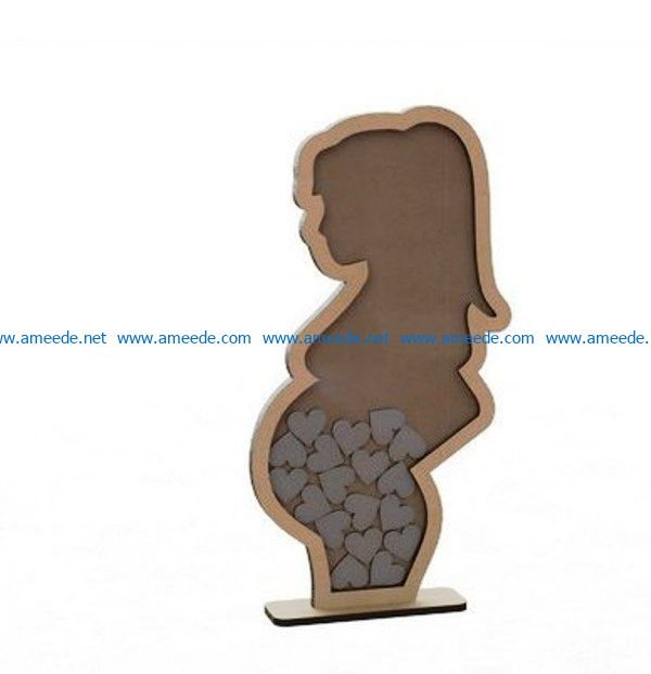 wishes pregnant file cdr and dxf free vector download for Laser cut