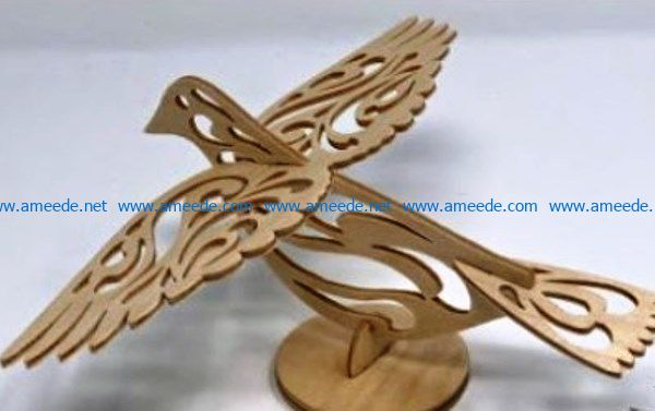 wooden bird file cdr and dxf free vector download for Laser cut