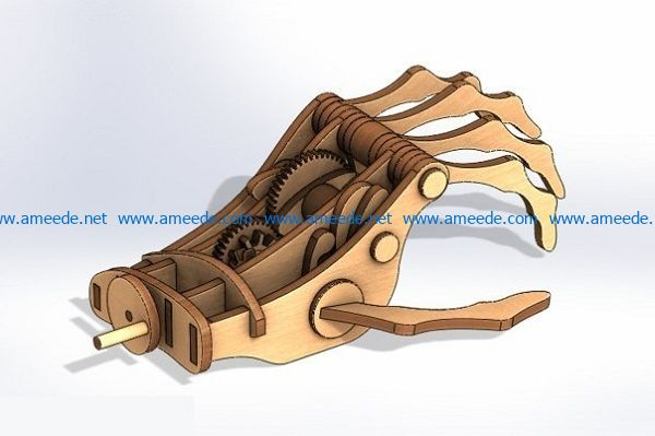 wooden hands file cdr and dxf free vector download for Laser cut