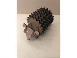 wooden hedgehog file cdr and dxf free vector download for Laser cut