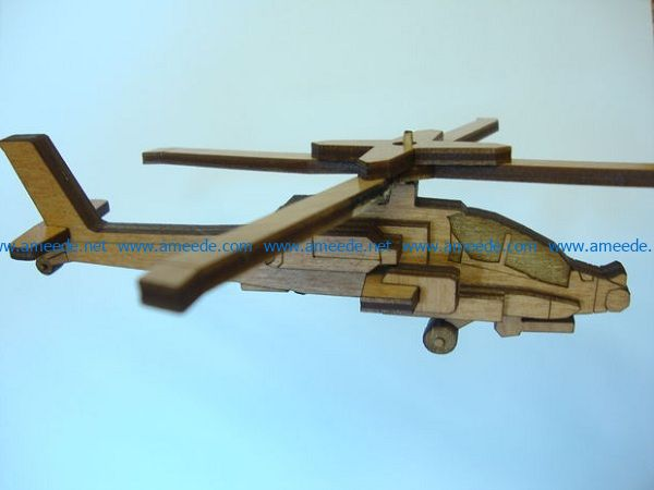 wooden helicopter file cdr and dxf free vector download for Laser cut