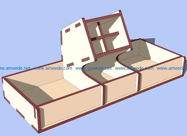 wooden organayzer file cdr and dxf free vector download for Laser cut