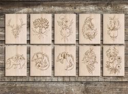 wooden picture file cdr and dxf free vector download for print or laser engraving machines