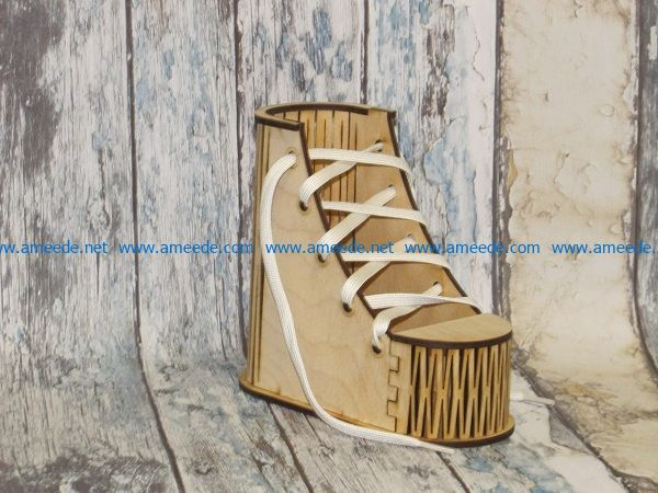 wooden sole shoes file cdr and dxf free vector download for Laser cut