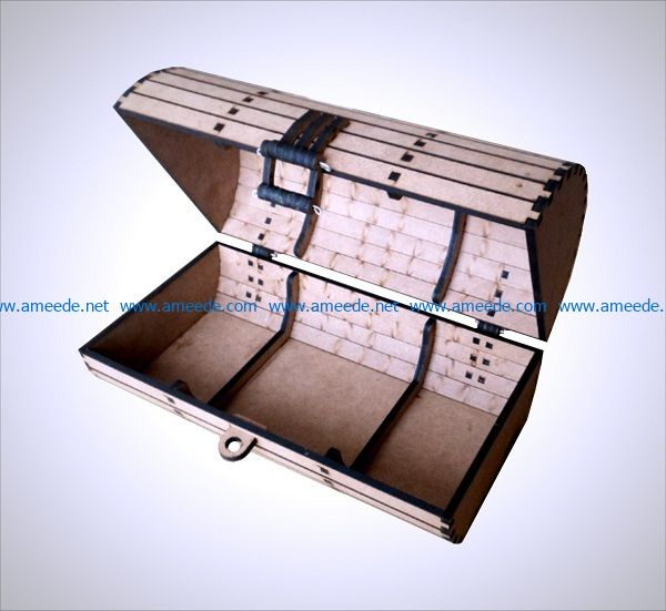 wooden suitcase file cdr and dxf free vector download for Laser cut