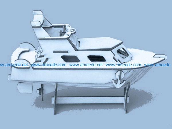 yacht file cdr and dxf free vector download for Laser cut