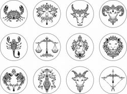 zodiac signs file cdr and dxf free vector download for print or laser engraving machines