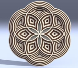3D Circles file cdr and dxf free vector download for Laser cut