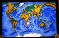 3D World map file cdr and dxf free vector download for Laser cut