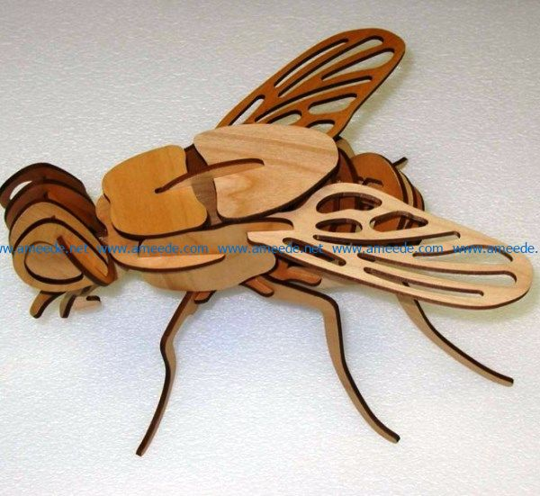 3D fly tempates file cdr and dxf free vector download for Laser cut