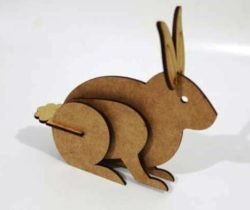 3D rabbit file cdr and dxf free vector download for Laser cut