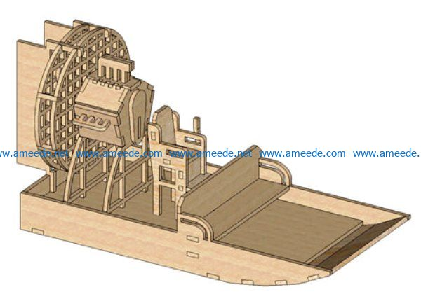 Air Boat puzzle file cdr and dxf free vector download for Laser cut