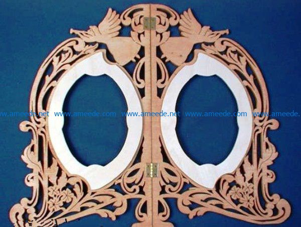 Angel mirror frame file cdr and dxf free vector download for Laser cut