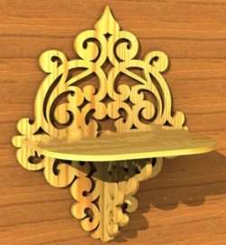 Arabic style wall shelves file cdr and dxf free vector download for Laser cut