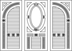 Art door file cdr and dxf free vector download for CNC cut