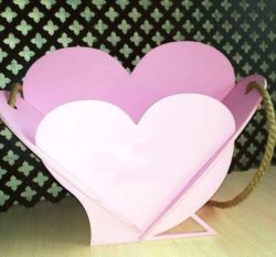 Basket of Heart file cdr and dxf free vector download for Laser cut