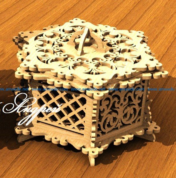 Beautiful casket file cdr and dxf free vector download for Laser cut