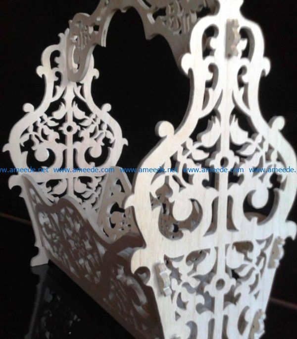 Beautiful fruit basket file cdr and dxf free vector download for Laser cut